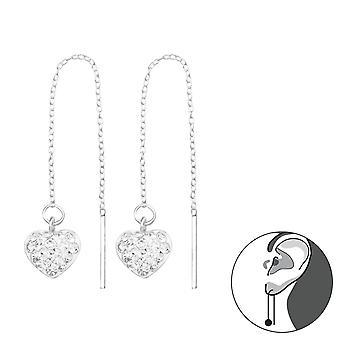 Hart - 925 Sterling Silver Crystal Ear Studs - W16793x