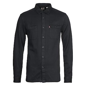 Levi's Jackson Worker Faded Black Corduroy Camicia