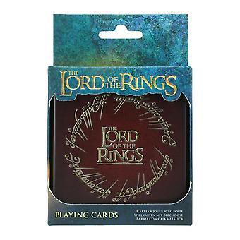 Il Signore degli Anelli gioca a carte nel mazzo standard di latta di stoccaggio