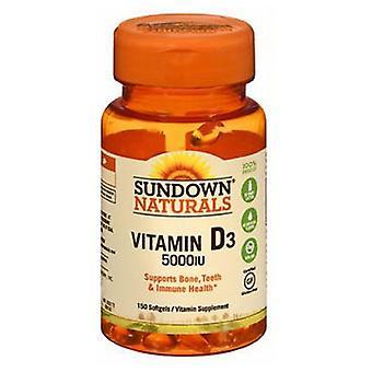 Sundown Naturals Vitamin D3, 5000 IU, 150 Softgels