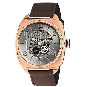 Briston Streamliner Skeleton Automatic Watch - Brown/Stainless Steel/Rose Gold