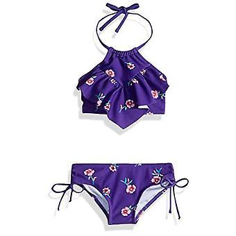 Kanu Surf Big Girls' Morgan Ruffle Halter Bikini 2-Piece Swimsuit, Pink, 2T, ...
