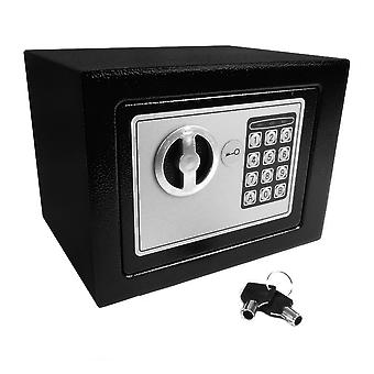 Hyfive safebox for home, high security steel small  safe box with two keys