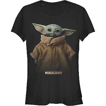 Junior Star Wars die mandalorianischen Das Kind Portrait Shirt