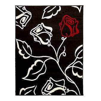 Element Solo Rug - Rectangular - Black/red/cream