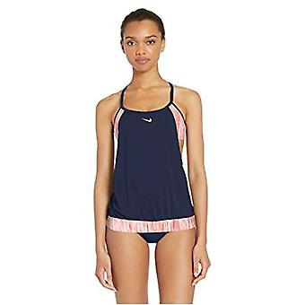 Nike Swim Women's Layered Sport Tankini Swimsuit Set, Ember Glow, Small