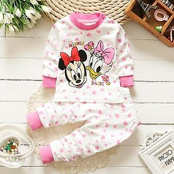 0-2year Baby Winter Cotton Clothes Set, Newborn Baby Pajamas Unisex Kids