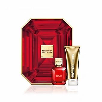 Michael Kors Sexy Ruby Eau de Parfum Spray 50ml Set regalo