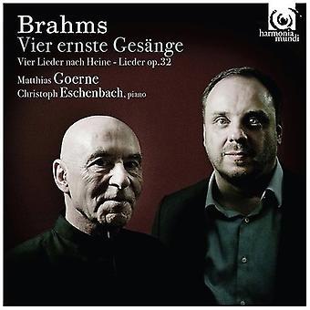 Goerne, Matthias Eschenbach, Christoph - Brahms: Lieder [CD] USA import