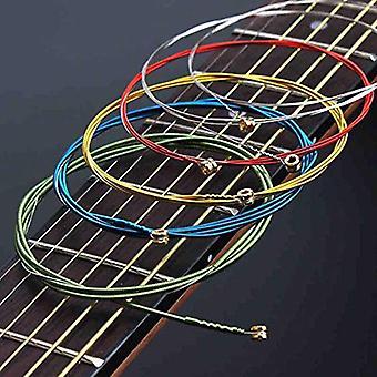 Akustische Gitarre Saiten Regenbogen bunte E-a Acoustic Folk Classic Multi Color