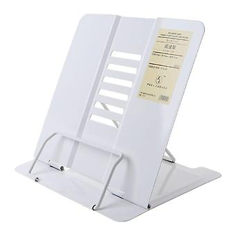Portable Metal Adjustable Reading Book Holder Support Document Shelf Bookstand