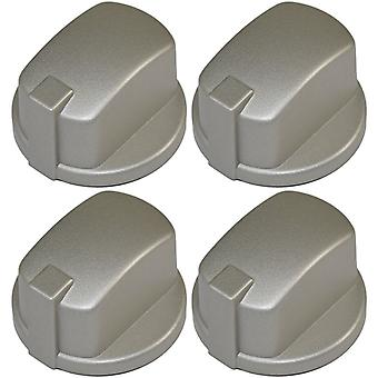 Indesit Compatible Oven Cooker Hob Control Knob Inox Pack of 4