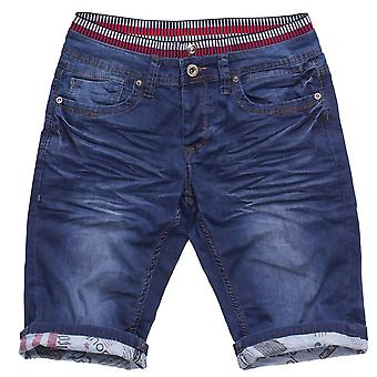 Men's Jogging Denim Jeans Pants Shorts Summer Bermuda Slim Stretch Waistband