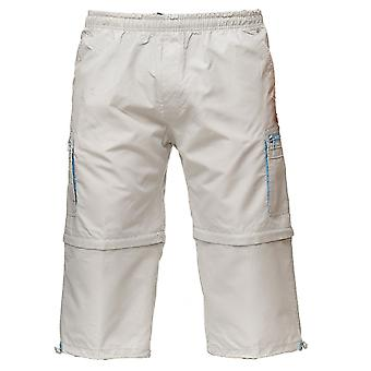 Men's Cargo Shorts Zip Pants 3/4 Trousers Summer 7/8 Bermuda 2 Lengths Pockets