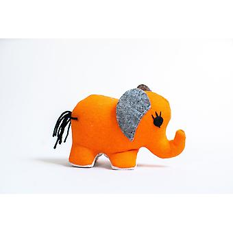 Orange-small Elephant Stuffed Toy