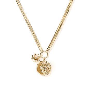 ChloBo GNTC1028 Frauen's Ariella Gold Ton Halskette