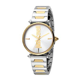 Just Cavalli Women's Armonia Silver Dial Stainless Steel Watch