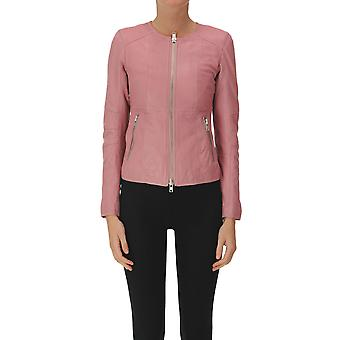 Bully Ezgl161008 Women's Pink Leather Outerwear Jacket