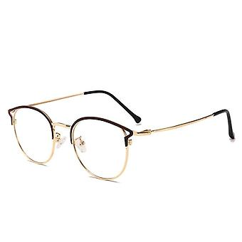 Sininen valo estävä tietokone lasit kissa silmä anti sininen säteet lasit nainen