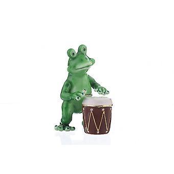 Frog Playing Drums-trinket Box