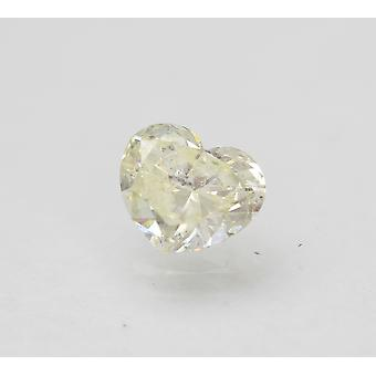 Gecertificeerde 0.73 Karaat J SI2 Heart Enhanced Natural Loose Diamond 6.48x5.55mm 2VG