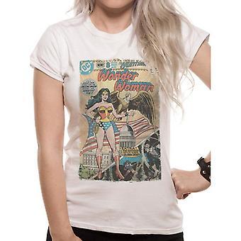 Justice League Womens/Ladies Wonder Woman Comic T-Shirt