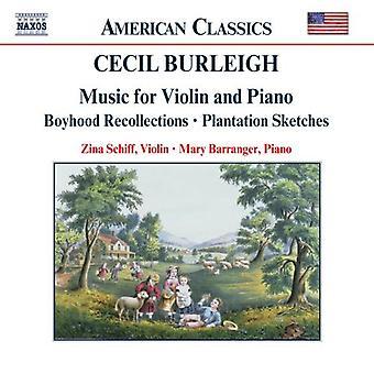 C. Burleigh - Cecil Burleigh: Music for Violin and Piano [CD] USA import