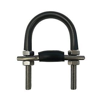 Bullone a U per tubo da 80 Nb (88,9 Od). Acciaio inossidabile T316 con base convessa per ridurre al minimo la corrosione della fessura