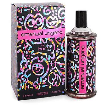 Ungaro For Her Eau De Parfum Spray By Ungaro 3.4 oz Eau De Parfum Spray