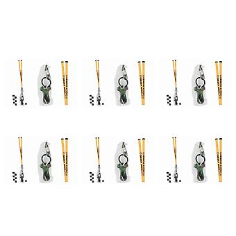 Pack Of 6 Rock Dummies With Cheeky Monkey Lanyards