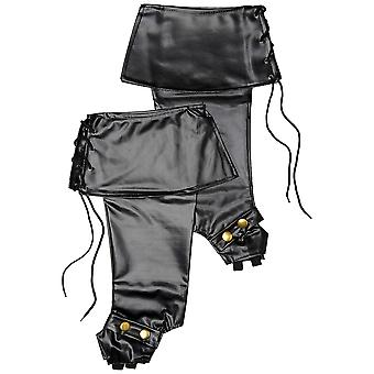 Smiffy's deluxe pirate bootcovers - black
