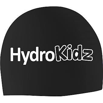 HydroKidz الأطفال & ق سيليكون السباحة قبعات -أسود
