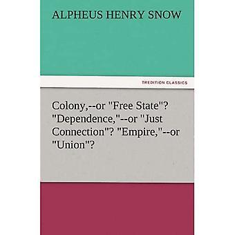 """Koloni,--eller """"Fri stat""""? """"Afhængighed,""""-- eller """"Kun forbindelse""""? """"Empire,""""-- eller """"Union""""?"""