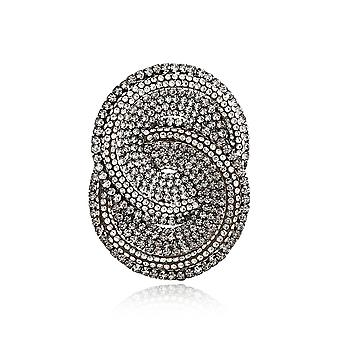 Brooch Pin Exaggerated Geometry Corsage Full Diamond Alloy Ladies Brooch