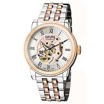 Gevril Vanderbilt Automatic Silver Dial Two-tone Men's Watch 2693