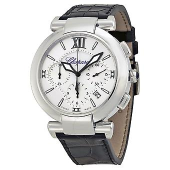 Chopard Imperiale Chronograph Automatic Silver Dial Stainless Steel Men's Leather Strap Watch 388549-3001