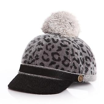 Baby Cap Autumn Winter Hat For, With Detachable Fur Ball
