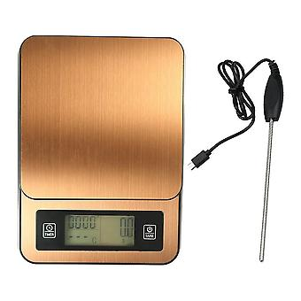 Timed handmade coffee electronic scale with temperature probe