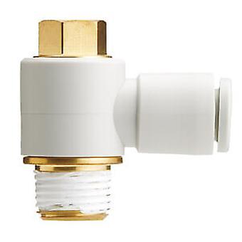 Smc Kq2V06-02As אחד בנגיעה התאמת צבע לבן-מרפק אוניברסלי זכר
