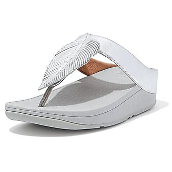 Fitflop Fitflop Fino pluma puntera post sandalias en plata