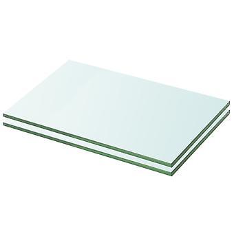 vidaXL hyllyt 2 kpl. lasi Läpinäkyvä 20 x 25 cm