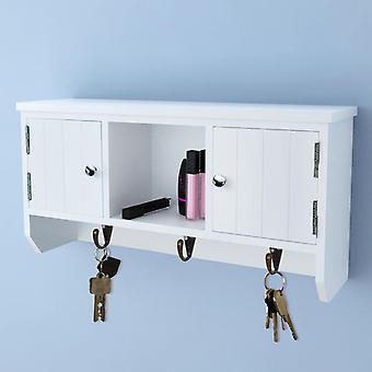vidaXL vægskab til nøgler og smykker med døre og kroge