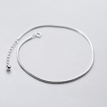 925 Sterling hopea muoti käärmeketju rannekoru nilkat