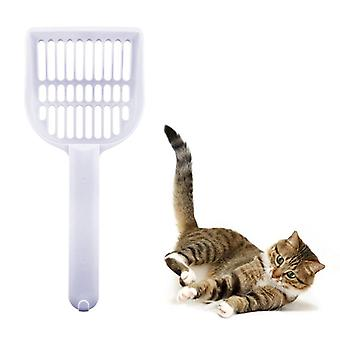 Kočičí špachtle / kbelík pro kočičí vrh Bílá