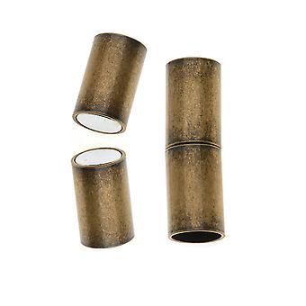 Magneettiset nastat, putkijohdon päät Sopii 6,2mm johtoon, 1 sarja, antiikkinen messinki