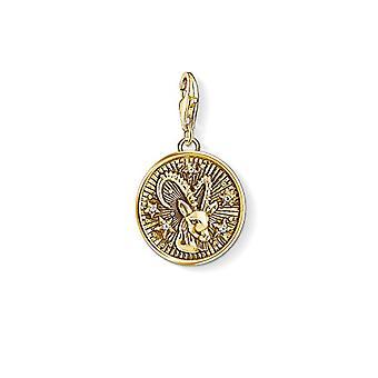 Thomas Sabo Medaljong Anheng fra Unisex Sterling Sølv 925(24)