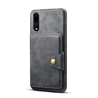 חריץ לכרטיס מארז מעור ארנק עבור iphonex/xs אפור כהה on512