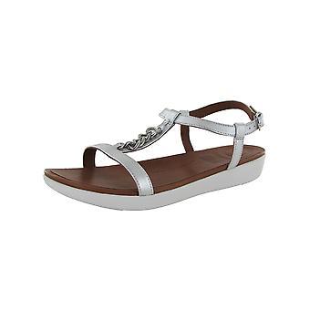 Fitflop Donna Lana Catena Scarpe Sandalo Metallizzato