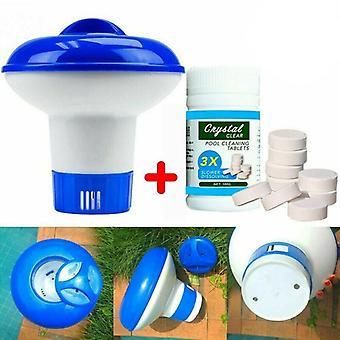 Uima-altaan puhdistus työkalu tabletit Desinfiointi pillerit Kloori tabletit Välittömät poreilevat putket Puhdistus Veden desinfiointi suodattimella