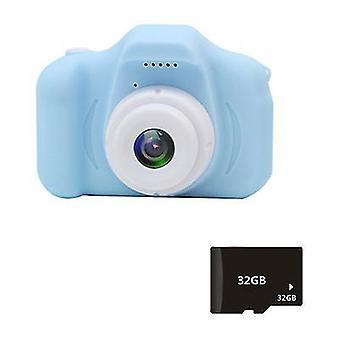 Modrá x2s mini dětská kamera 2 palce hd barevný displej dobíjecí mini kamera az22563